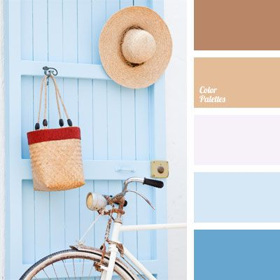 beige and blue