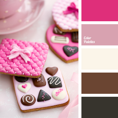pink and chocolate