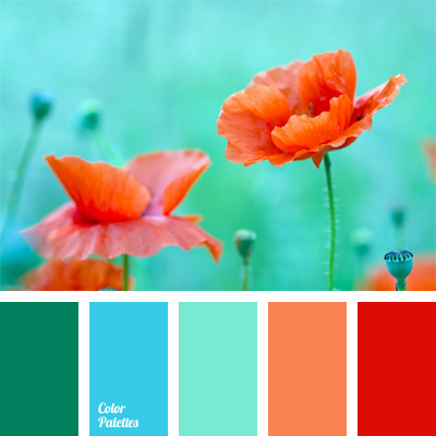 Blue and coral color palette ideas - Does green and orange match ...