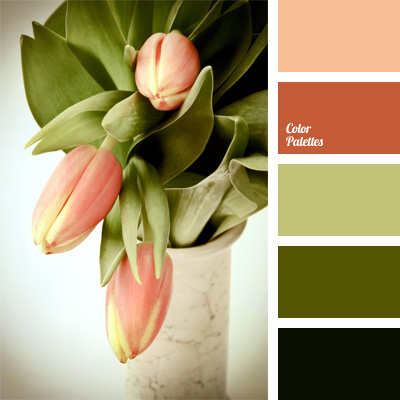 Khaki color palettes - Matching colours with peach ...