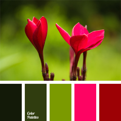 green and crimson | color palette ideas