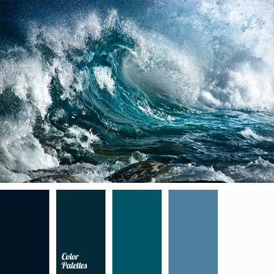 Monochrome color palette of blue color palette ideas for Ocean blue color combinations