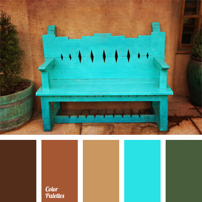 light blue and brown | color palette ideas