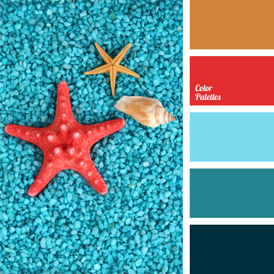 Red and light blue color palette ideas - Light blue brown color scheme ...