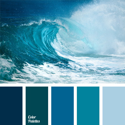 Blue color tag color palette ideas for Ocean blue color combinations
