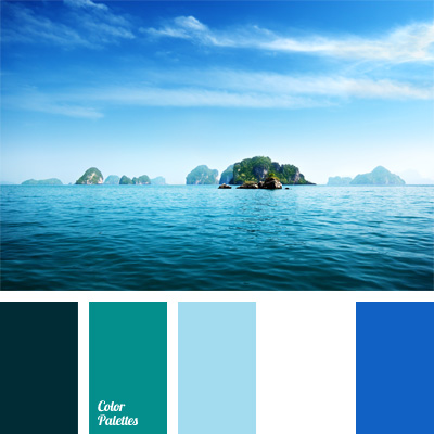 Shades of sky blue color palette ideas for Ocean blue color combinations