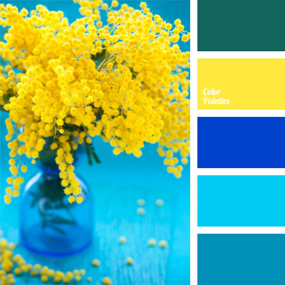 Yellow and greenish blue color palette ideas - Yellow and blue paint scheme ...