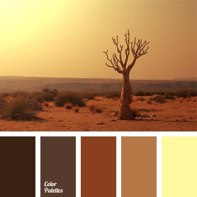 Ochre color palette ideas for Warm light brown paint color