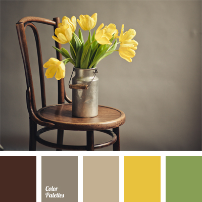 Shades of brown and yellow color palette ideas