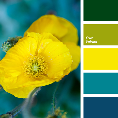 Bright deep blue color palette ideas - Yellow and blue paint scheme ...