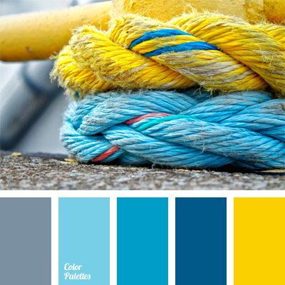 Contrasting combination of colors tag color palette ideas - Yellow and blue paint scheme ...
