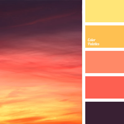 deep orange color palette ideas