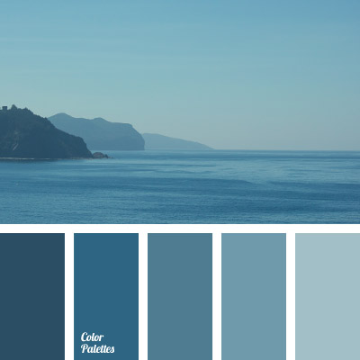 Colour of sea water color palette ideas for Ocean blue color combinations