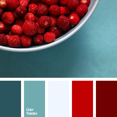 Turquoise And Red Color Palette Ideas