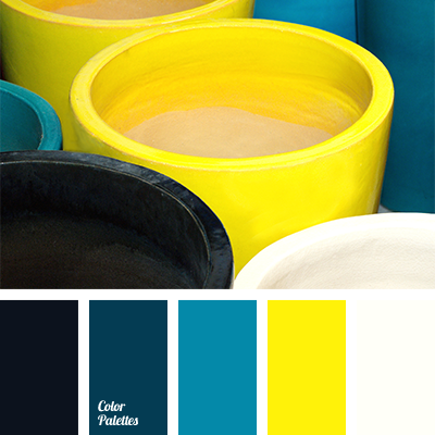 Neon yellow color palette ideas - Yellow and blue paint scheme ...