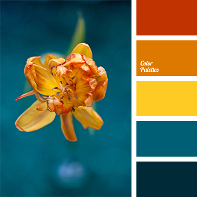Deep Blue And Orange Color Palette Ideas