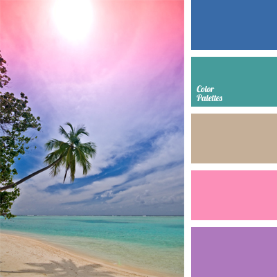 Colour of water in the ocean color palette ideas - Ocean blue color combinations ...