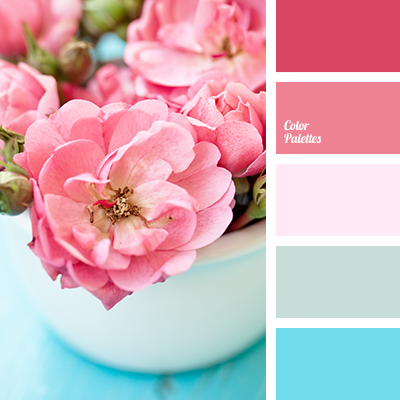 turquoise and coral | Color Palette Ideas