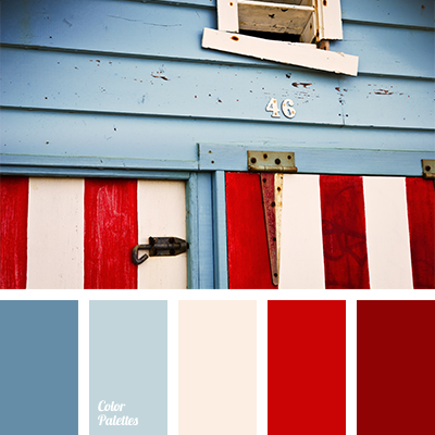 Deep Blue And Red Color Palette Ideas