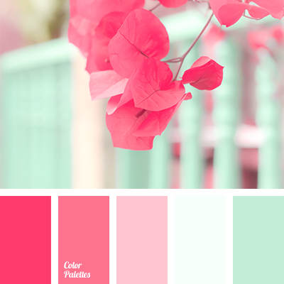 Mint and pink color palette ideas Good color combination for pink