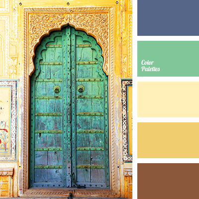 Deep Blue And Brown Color Palette Ideas