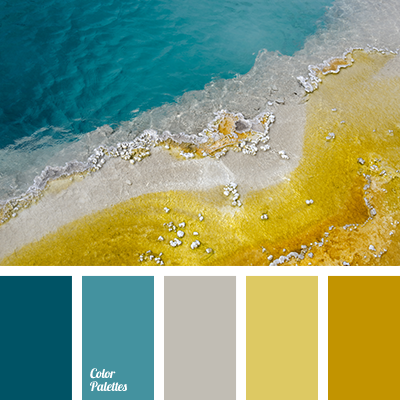 Dark turquoise and gray color palette ideas - Yellow and blue paint scheme ...