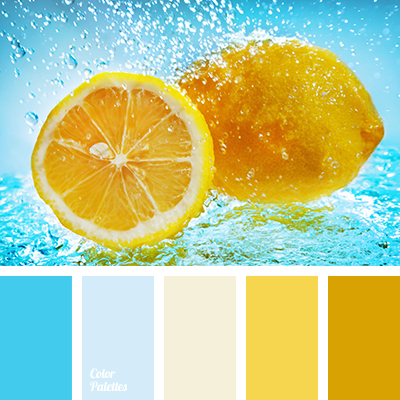 Pale blue and light blue color palette ideas - Which colour goes with yellow ...