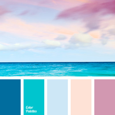 Peach and deep blue color palette ideas for Ocean blue color combinations