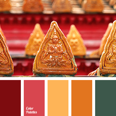 burgundy and orange color palette ideas