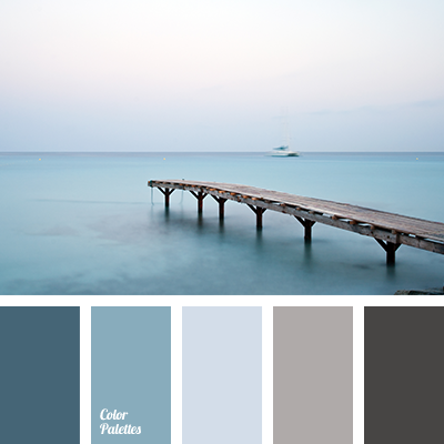 dark gray and dark blue color palette ideas