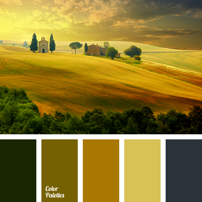 Mustard Green Color Palette Ideas