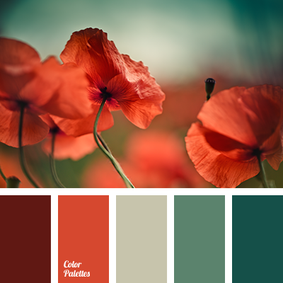 Contrasting Combination Of Red And Green Color Palette Ideas