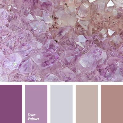 Delicate tones for a wedding color palette ideas - Combination with purple color ...