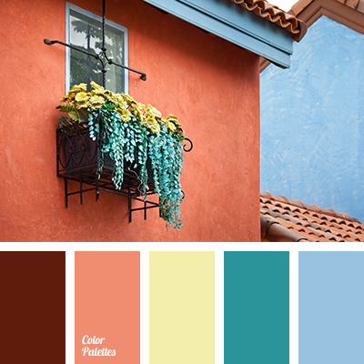 Brown and blue page 4 of 10 color palette ideas - Light blue brown color scheme ...