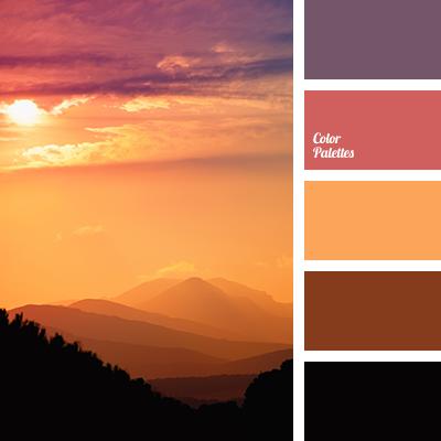 Colours of sunrise color palette ideas - Orange brown color scheme ...
