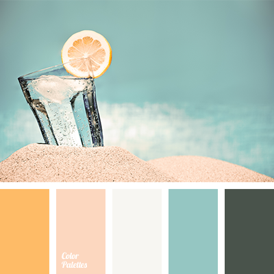 turquoise and apricot | Color Palette Ideas