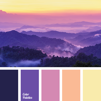 Orange and lilac color palette ideas for Purple mauve color
