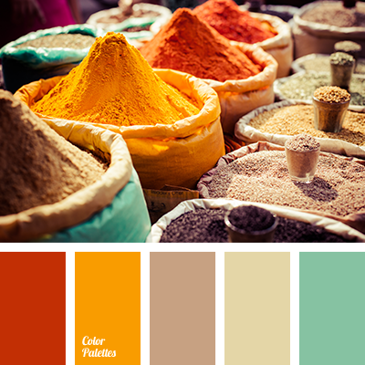 apricot and turquoise | Color Palette Ideas
