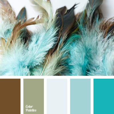 Shades of turquoise tag color palette ideas - Light blue brown color scheme ...