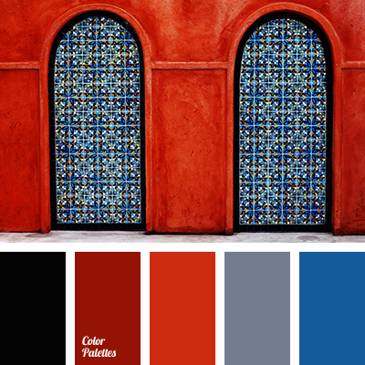 Dark Blue And Red Color Palette Ideas