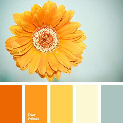 shades of orange and yellow | color palette ideas