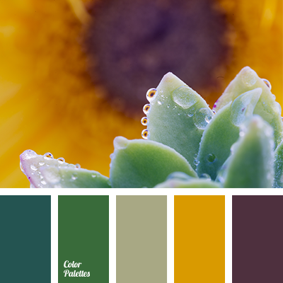 Honey and emerald green color palette ideas - Green yellow color scheme ...