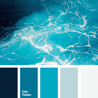 Color of ocean water color palette ideas for Ocean blue color combinations