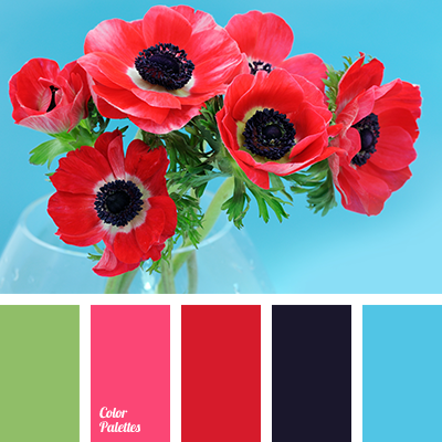 Dark blue and red color palette ideas - Combination of green and pink ...