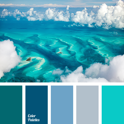 Color of water in ocean color palette ideas for Ocean blue color combinations