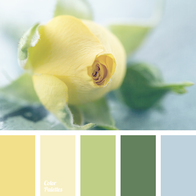 Color palette 1911 for Blue and yellow paint combinations