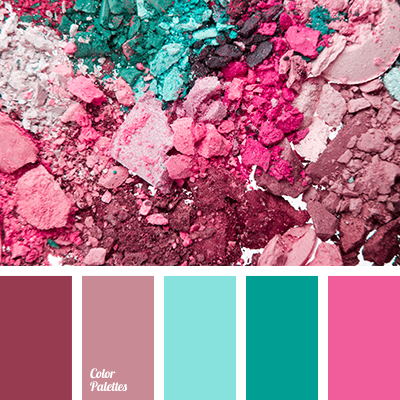 Turquoise And Pink Color Palette Ideas
