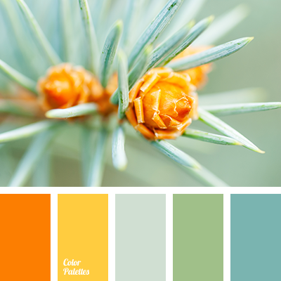 Color Palette 1927 Blue Green Bright Orange