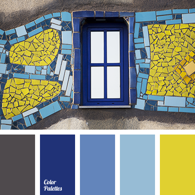 Sky blue and yellow color palette ideas for Blue and yellow paint combinations