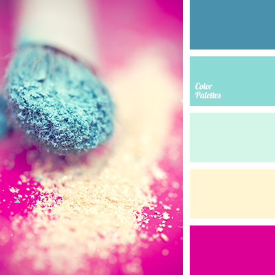 contrasting shades of blue and pink